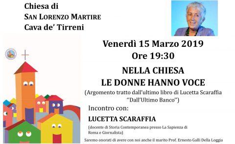Nella Chiesa le donne hanno voce – Incontro con la prof.ssa Lucetta Scaraffia